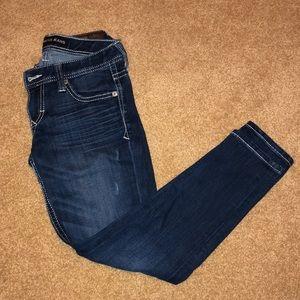 Express Stella Low Rise Thick Stitch Jean Leggings